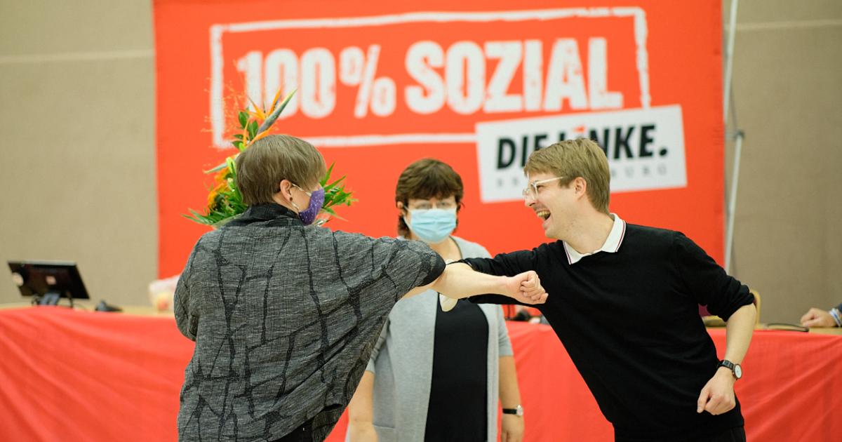 Bild: Stefan Kunath nach der Wahl zum Direktkandidaten zur Bundestagswahl