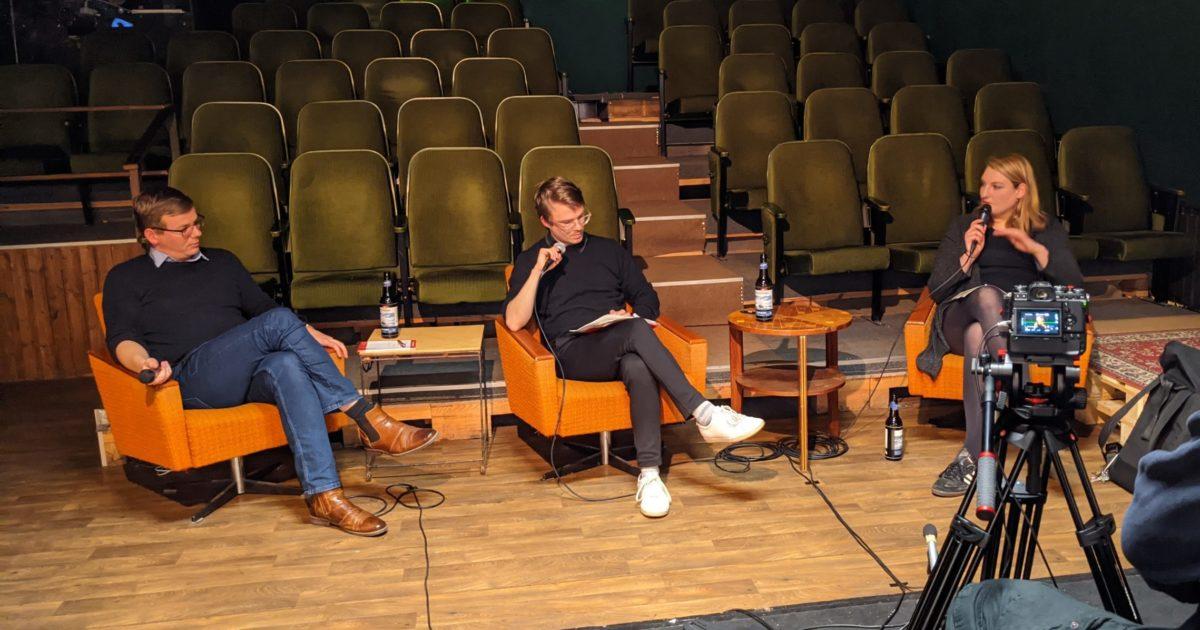 Krisengespräch mit Stefan Kunath, Isabelle Vandre und Sebastian Walter in Frankfurt (Oder)
